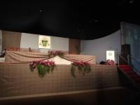 decoração de mesa solene arranjo solene