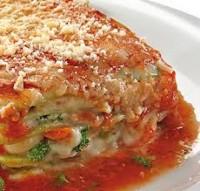 Alimentação - Prato congelado baixa caloria  Lazanha de Abobrinha com Ricota - Prato congelado baixa caloria  Lazanha de Abobrinha com Ricota