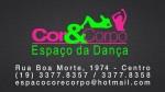 Espaço da Dança Cor e Corpo Aulas de Zumba Dança de Salão e muito mais.
