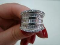 Saúde e beleza - Anéis em Prata com Zirconias - Anéis em Prata com Zirconias