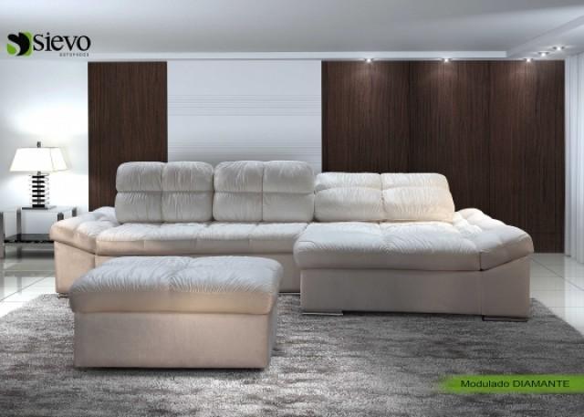 Sof s retr teis inclin veis com chaise de casal e - Medidas de sofas 3 2 ...