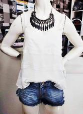 Moda - Blusinhas/ Saia Jeans - Blusinhas/ Saia Jeans