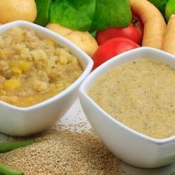 Sopinhas purê 150g congelada de frango com quinua Papa Rica