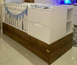Bebês e Crianças - Berço cama com nicho lateral - Berço cama com nicho lateral