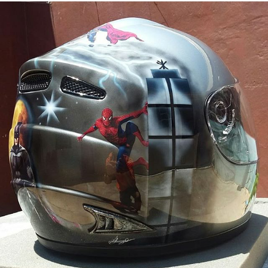 Reforma e customização de capacetes em Piracicaba  767acdb7d25