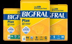 Fralda Geriátrica Juvenil P M G EG BigFral Plus 10H De Absorção