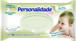 Bebês e Crianças - Toalha Umedecida Personalidade Baby c/ 100 unidades - Toalha Umedecida Personalidade Baby c/ 100 unidades
