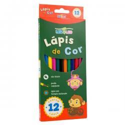 Lapis de 12 cores sextavado Leo &Leo