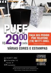 Para sua casa - PUFF BOX COURO ECOLÓGICO CORINO VARIAS CORES  - PUFF BOX COURO ECOLÓGICO CORINO VARIAS CORES