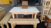 Mesa de Churrasco madeira reflorestamento Sob medida