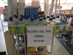 Álcool em Gel 70 com Glicerina 500 ml  r$ 8.00