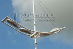 Equipamentos e Acessórios  - Poste de aço galvanizado para iluminação pública santos praia grande mongagua - Poste de aço galvanizado para iluminação pública santos praia grande mongagua