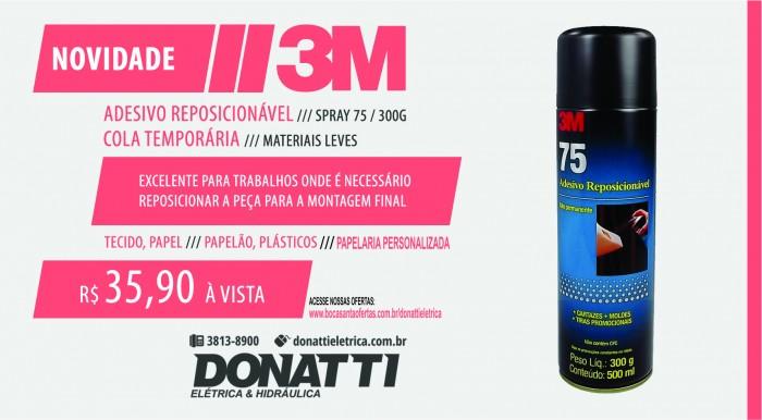 Adesivo De Contato Spray ~ Adesivo Spray Reposicionável 75 3M (300g) Itapira Donatti Elétrica e Hidraulica Itapira
