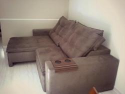 Sofá Retrátil Reclinável Pillow top 2,40 m