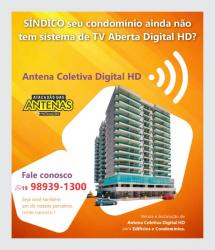 Antena Coletiva Sistema de TV Aberta Digital HD