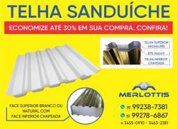 Telha Sanduiche Galvanizada