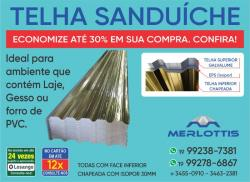 Telha Galvanizada Sanduiche