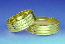 Saúde e beleza - Aliança de Casamento com Brilhantes - Aliança de Casamento com Brilhantes