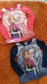 Bebês e Crianças - Blusinha Infantil Frozen Santa Terezinha - Blusinha Infantil Frozen Santa Terezinha