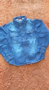 Bebês e Crianças - camisa jeans masculina santa terezinha - camisa jeans masculina santa terezinha