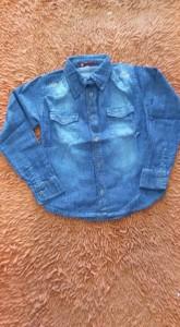 Bebês e Crianças - camisa jeans feminina santa terezinha - camisa jeans feminina santa terezinha