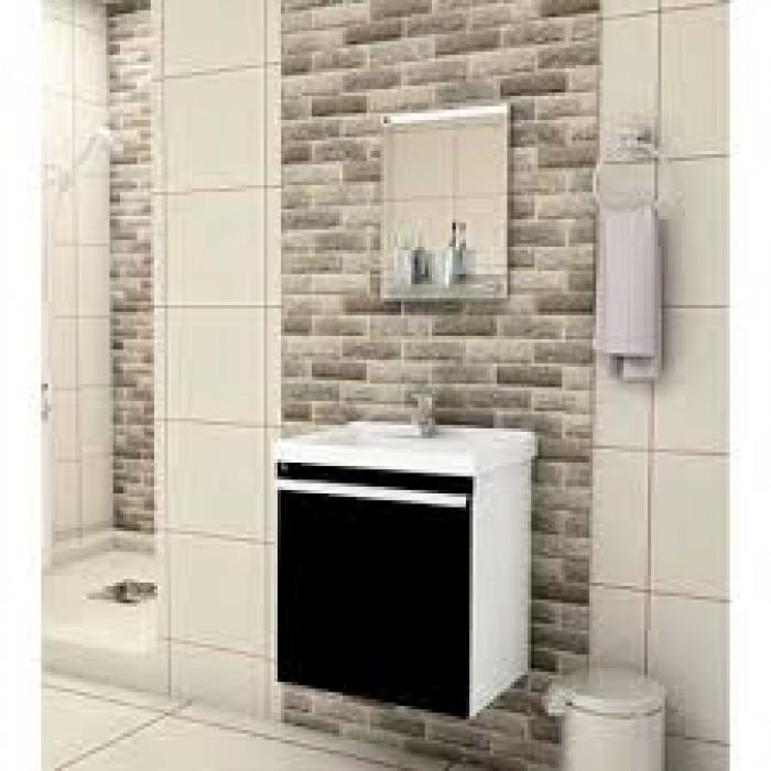 Gabinete de Banheiro Mini kit 45 cm  Piracicaba  União Materiais Para Const -> Mini Banheiro Com Banheira