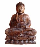 Para sua casa - Imagem do Buda em Madeira Indonésia - Imagem do Buda em Madeira Indonésia
