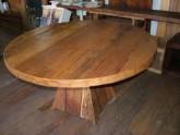 Mesa Redonda madeira Jequitibá - móveis rústicos