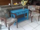 Poltrona Estofadas com braco de madeira de sala do papai Fechamento