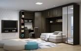 Dormitorio Modulado Guarda Roupa Modulado MDF