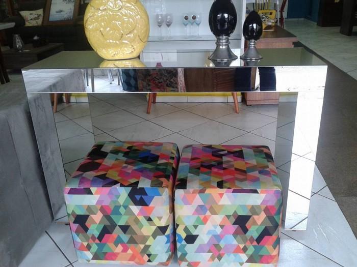 Artesanato De Croche Em Barbante ~ Aparador sem gavetas espelhado 120×40 em Piracicaba Moveis& Cia Sofás Rack Sala De Jantar