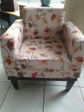Poltrona decorativa Cadeira de fechamento sala linha reta colorida moderna