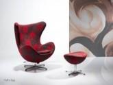 poltrona decorativa cadeira de fechamento Egg colorida moderna giratoria