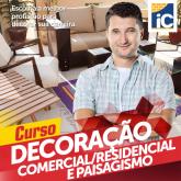 Curso de Decoração Residencial, Comercial e Paisagismo