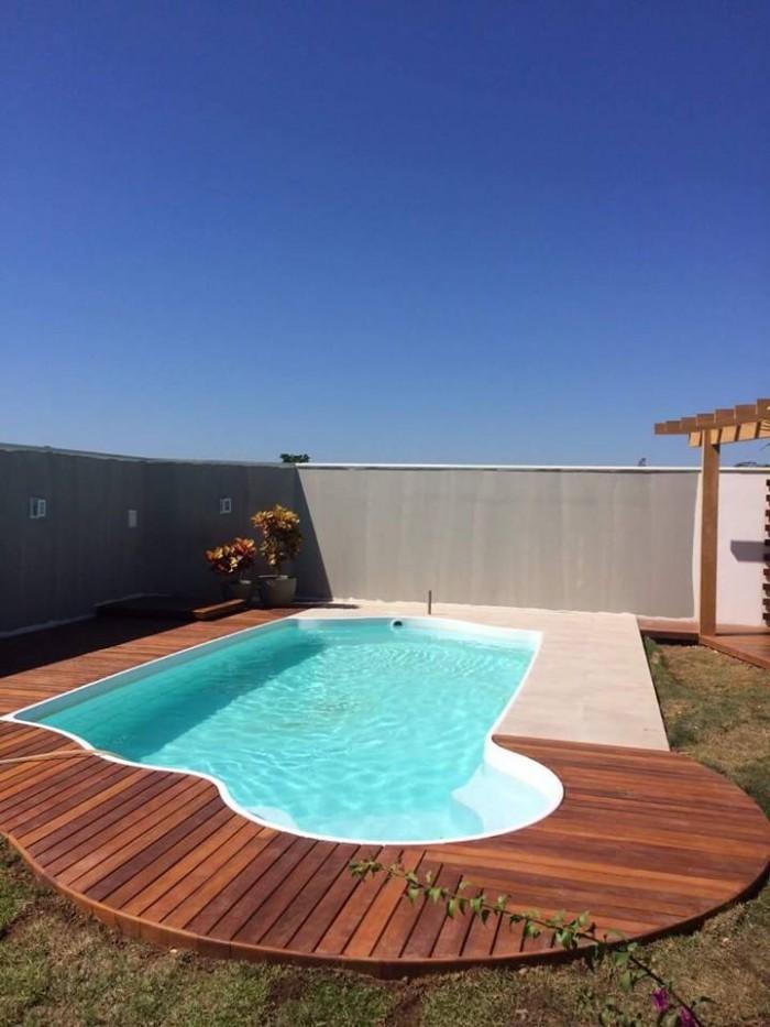 Piscinas de fibra solario piracicaba 6 50 x 3 20 x 1 40 m for Ofertas de piscinas