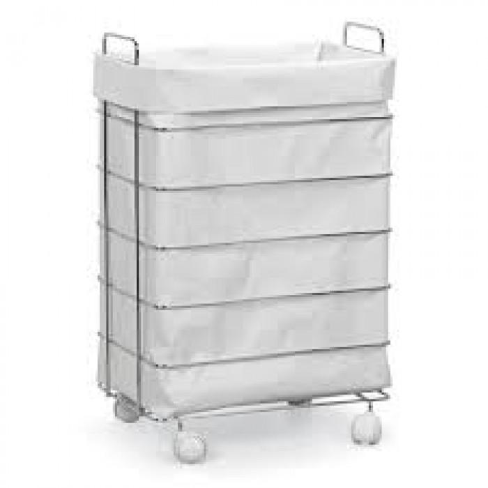 Cesto para roupa suja cromado  Piracicaba  Comercial Frei Elétrica Hidráuli # Armario De Banheiro Com Cesto De Roupa Suja