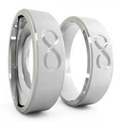 Saúde e beleza - Aliança de Namoro em Prata Aço Inox - Aliança de Namoro em Prata Aço Inox