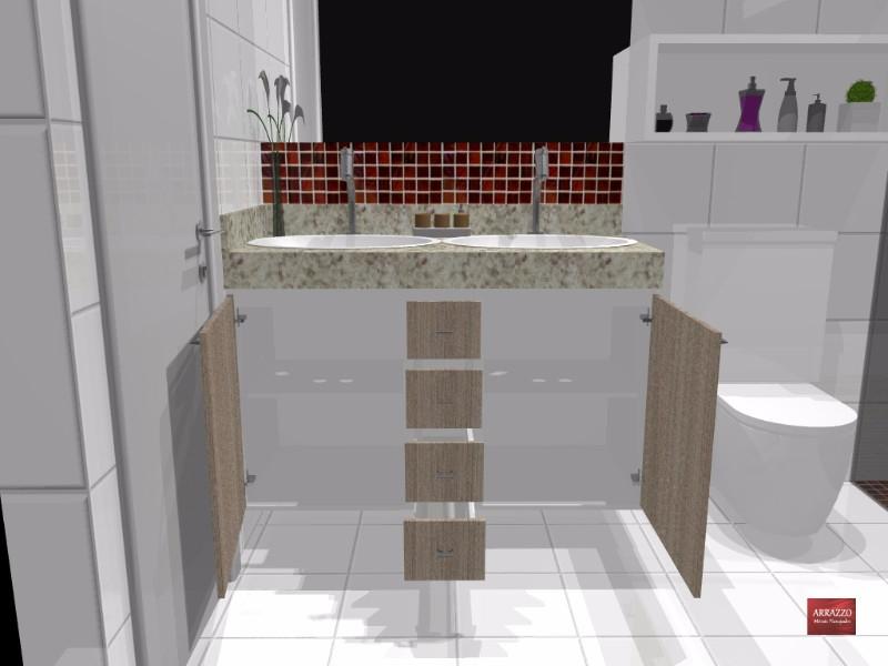 Banheiro Planejado MRV  Piracicaba  Arrazzo Móveis Planejados  Boca Santa  -> Movel Banheiro Planejado