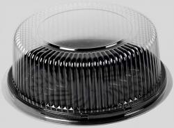 Alimentação - Bandeja plástica redonda para torta / bolo / confeitaria - BIPACK BP 50M - CAIXA C/ 50 CONJUNTOS - Bandeja plástica redonda para torta / bolo / confeitaria - BIPACK BP 50M - CAIXA C/ 50 CONJUNTOS