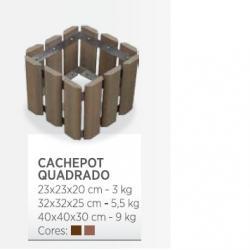 Para sua casa - Cachepots em madeira plástica  - Cachepots em madeira plástica