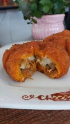 Moranguinha Salgado de Abóbora com Carne Seca e Catupiry -