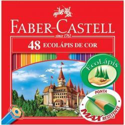 Lápis de Cor 48 cores Faber Castell Ponta Max Resistente
