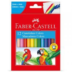 Livraria e papelaria - Canetinha Hidrocor 12 cores Faber Castell - Canetinha Hidrocor 12 cores Faber Castell