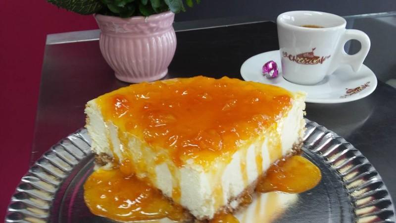 cheesecake de Damasco doceria em piracicaba