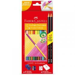 EcoLápis de Cor Bicolor 12 lápis/24 cores