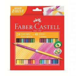 EcoLápis de Cor Bicolor 24 Lápis/48 cores