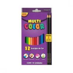Lápis de cor Multicolor caixas com 12, 24 e 36 cores