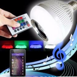 lâmpada musical com controle via bluetooth