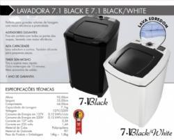 Lavadora de Roupa 7 kg Fioreta Black 7.1 Tanquinho