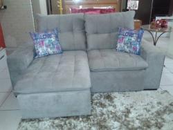 Sofá retrátil reclinável com pillow top, sofá para ambientes pequenos, sofá de 2,10